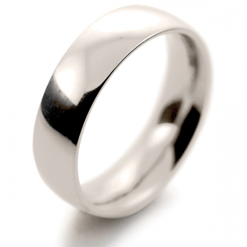 Court Very Heavy -  6mm (TCH6 W) White Gold Wedding Ring
