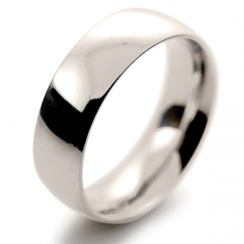 Court Very Heavy -  7mm (TCH7 W) White Gold Wedding Ring