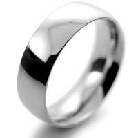 Court Traditional Heavy - 7mm Platinum Wedding Ring (Plat or Pall)
