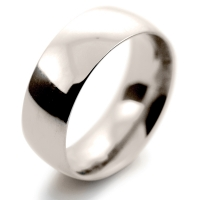 Court Very Heavy -  8mm (TCH8) 18ct White Gold Wedding Ring
