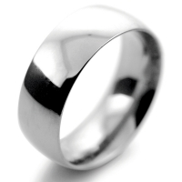 Court Traditional Heavy - 8mm Platinum Wedding Ring (Plat or Pall)