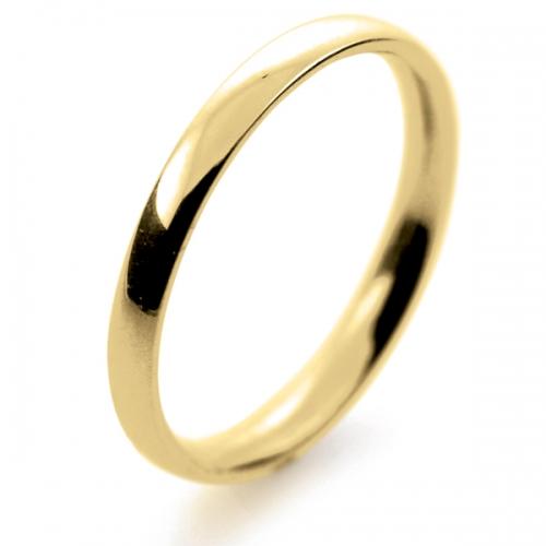 18ct yellow gold wedding ring court light 2mm tcsl2y