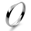 Platinum Wedding Ring Court Light Weight - 2.5mm