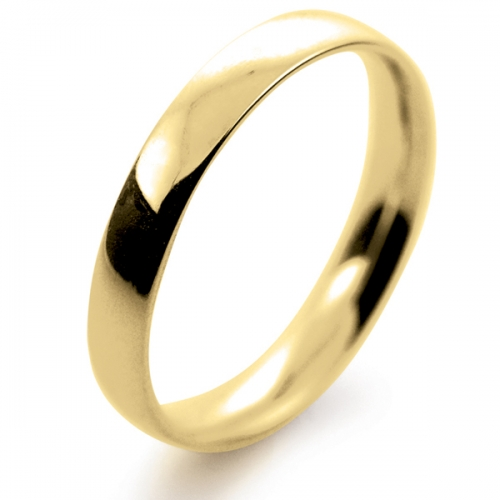 Court Light -  3mm (TCSL3Y-Y) Yellow Gold Wedding Ring Ladies