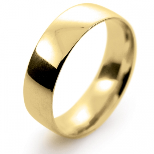 Court Light -  6mm (TCSL6Y) 18ct Yellow Gold Wedding Ring