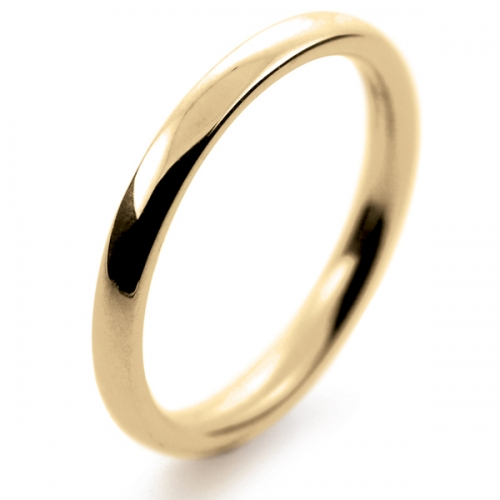 Court Medium -   2mm (TCSM2Y-Y) Yellow Gold Wedding Ring
