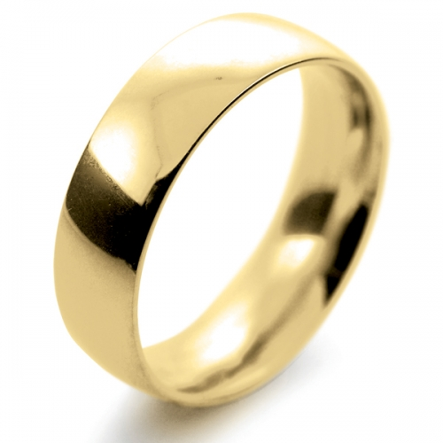 Court Medium -  7mm (TCSM7Y) 18ct Yellow Gold Wedding Ring