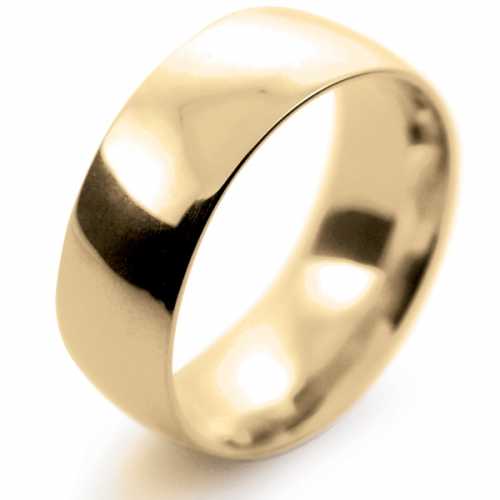 Court Medium -  8mm (TCSM8Y-Y) Yellow Gold Wedding Ring
