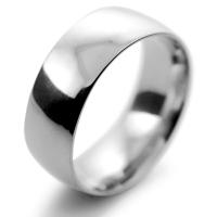 Court Medium - 8mm (TCSM8P) Platinum Wedding Ring