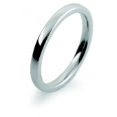 Platinum Wedding Ring  2mm Wide Slight Court with Flat Edges Light Weight