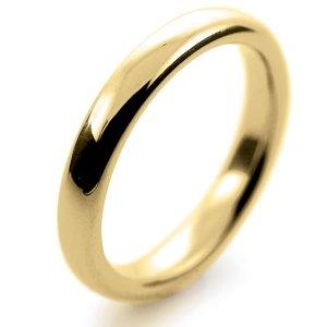 Court Very Heavy -  3mm (TCH3Y-Y) Yellow Gold Wedding Ring