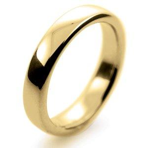 Slight Court Profile Wedding Rings - Yellow Gold