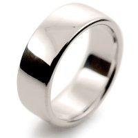 Soft Court Very Heavy - 8mm (SCH8) 18ct White Gold Wedding Ring