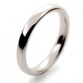 Slight or Soft Court Medium - 2.5mm (SCSM2.5PAL) Palladium Wedding Ring