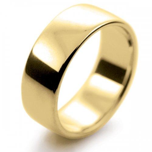 Soft Court Medium -  8mm (SCSM8Y-9Y) 9ct Yellow Gold Wedding Ring