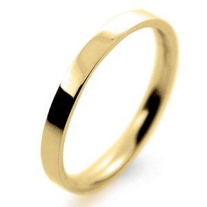 Flat Court Light -  2mm (FCSL2Y-Y) Yellow Gold Wedding Ring