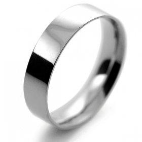 Flat Court Light - 5mm Platinum Wedding Ring