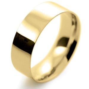 Flat Court Light -  7mm (FCSL7Y-Y) Yellow Gold Wedding Ring