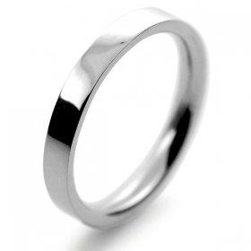 Flat Court Medium -  2.5mm Platinum Wedding Ring (Plat or Pall)