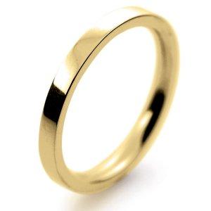 Flat Court Medium -  2mm (FCSM2Y-Y) Yellow Gold Wedding Ring