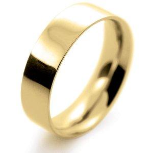 Flat Court Medium - 6mm (FCSM6-Y) Yellow Gold Wedding Ring