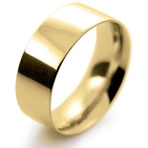 Flat Court Medium - 8mm (FCSM8-Y) Yellow Gold Wedding Ring