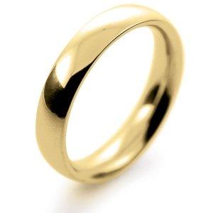 Court Very Heavy -  4mm (TCH4Y-Y) Yellow Gold Wedding Ring
