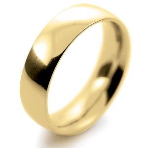 Court Very Heavy -  6mm (TCH6Y-Y) Yellow Gold Wedding Ring