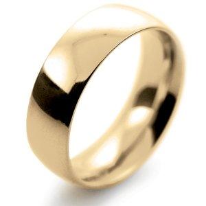 Court Very Heavy -  7mm (TCH7Y-Y) Yellow Gold Wedding Ring