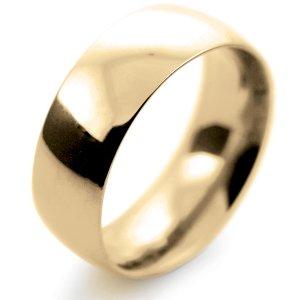 Court Very Heavy -  8mm (TCH8Y-Y) Yellow Gold Wedding Ring