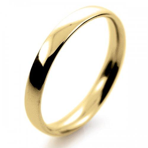 Court Light -  2.5mm (TCSL2.5Y) 18ct Yellow Gold Wedding Ring