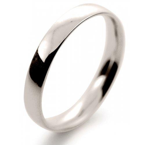 Court Light - 3 mm (TCSL3) 18ct White Gold Wedding Ring