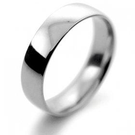 Court Light - 5mm (TCSL5P) Platinum Wedding Ring