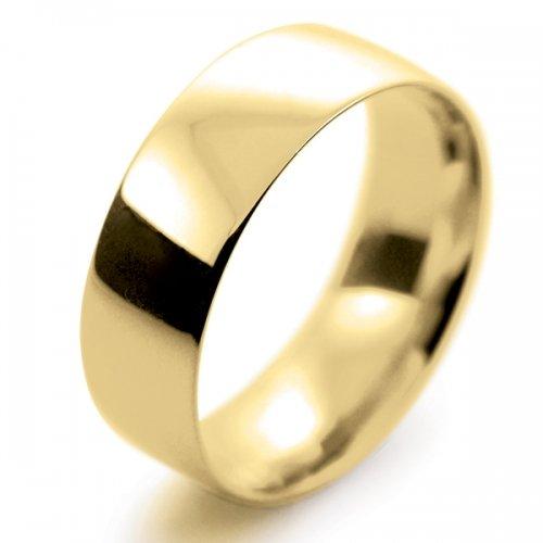 Court Light -  8mm (TCSL8Y) 18ct Yellow Gold Wedding Ring