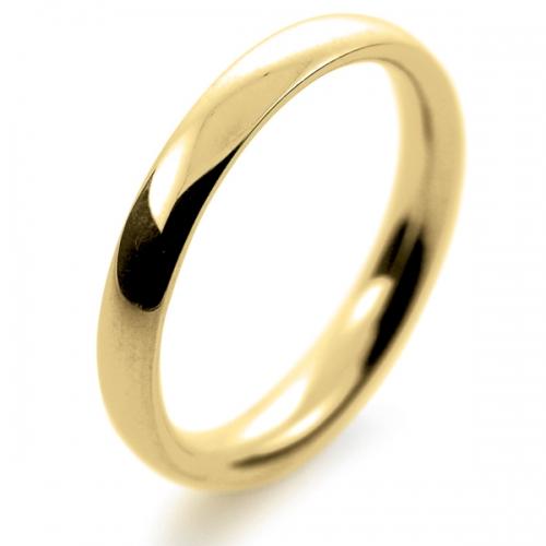 Court Medium -  2.5mm (TCSM2.5Y) 18ct Yellow Gold Wedding Ring