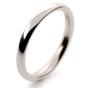 Court Medium - 2mm (TCM2.0 W) White Gold Wedding Ring