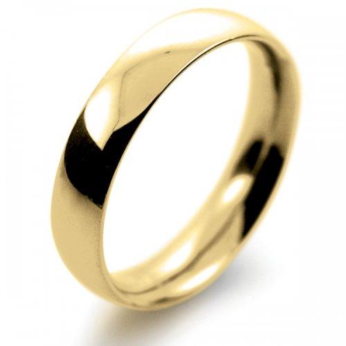 Court Medium -  4mm (TCSM4Y-Y) Yellow Gold Wedding Ring