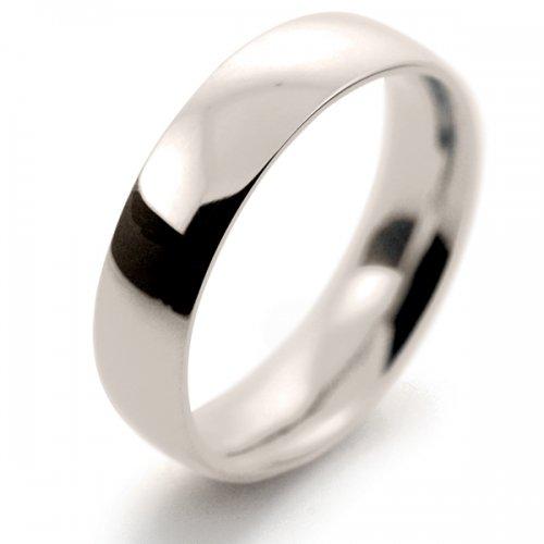 Court Medium -  5mm (TCSM5) 18ct White Gold Wedding Ring