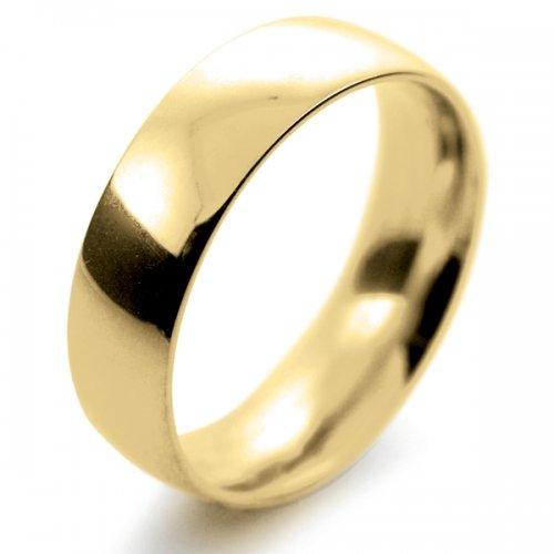 Court Medium -  6mm (TCSM6Y-9Y) 9ct Yellow Gold Wedding Ring