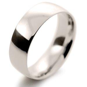 Court Medium -  7mm (TCM7 W) White Gold Wedding Ring