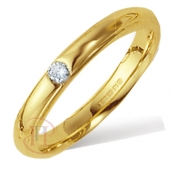 18ct Yellow Gold Diamond Wedding Rings
