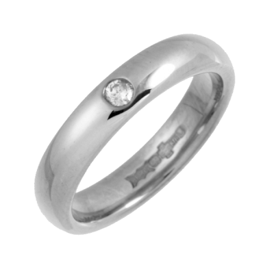 Platinum Diamond Mens Engagement Ring Width 5mm Heavy