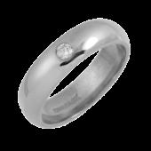 Platinum Diamond Mens Engagement Ring Width 6mm Heavy