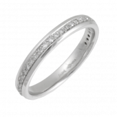 Platinum Diamond Wedding Band 3mm with Diamonds