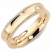 18ct Gold Wedding Rings Designer Patterned