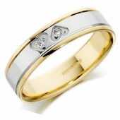 9ct Gold Wedding Rings Two Colour
