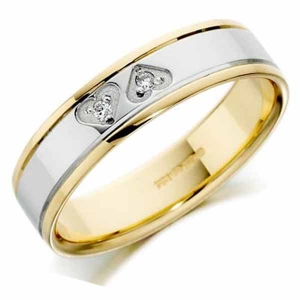 Yellow and White 9ct Gold Wedding Rings