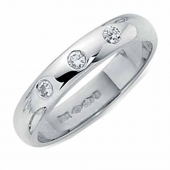 Platinum Diamond Wedding Ring 4mm