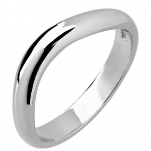 Palladium Designer Shaped Wedding Ring Width 4mm