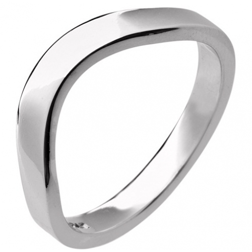 Shaped Wedding Ring 3mm (R198) - All Metals